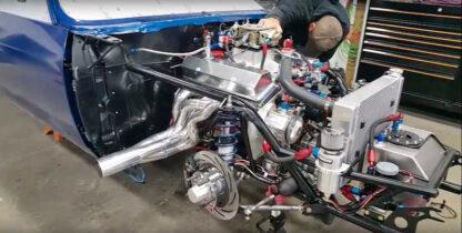 vega hatchback engine shot